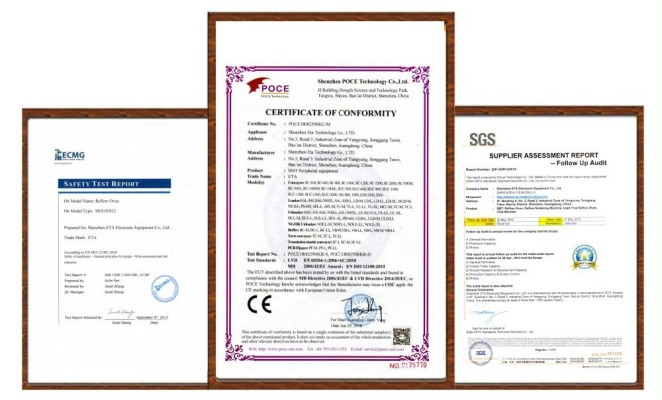 ETA Products Certificate